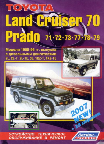 TOYOTA LAND CRUISER 70 PRADO 1985-1996 Руководство по ремонту